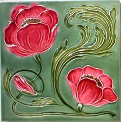 Art Nouveau tile, Jugendstil Fliese