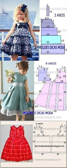 """diy_crafts-Frocks """"Little girl dresses"""", """"adorable infant cute little girls dress pattern."""", """"diagrams for young girls' dresses"""", """"The m Fashion Kids, Fashion Sewing, Toddler Fashion, Fashion Games, Little Dresses, Little Girl Dresses, Girls Dresses, Baby Dresses, Peasant Dresses"""