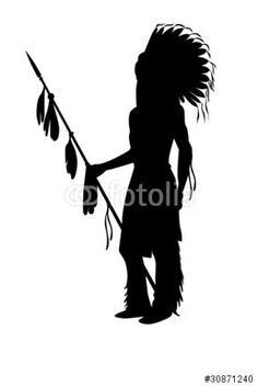 silhouette indian chief - Google Search