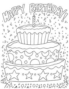 ausmalbilder geburtstag oma | happy birthday | geburtstag malvorlagen, ausmalbilder und