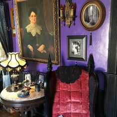 "GothProf on Instagram: ""Our quarenteen project: we turned an unused storage room into a gothic Victorian parlor."""