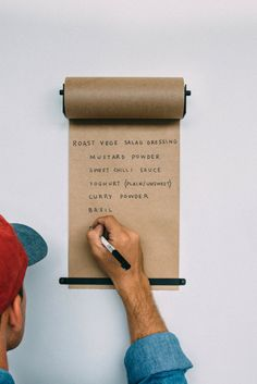 Put your ideas and lists on a roll.