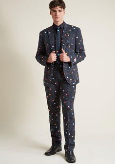 #ModCloth - #ModCloth Work the Game Room Pac-Man Men's Suit in 48 - AdoreWe.com