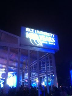 Outside the Rice Centennial Finale party