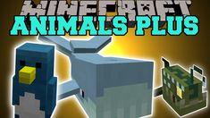 Minecraft: ANIMALS PLUS (KILLER SHARKS, POISONOUS SNAKES, PIRANHAS, & MO...