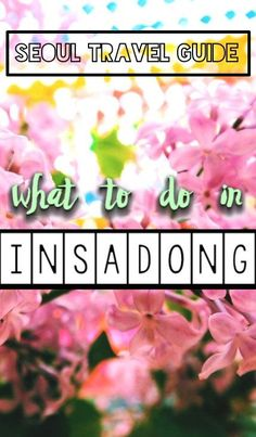 Our Seoul travel guide for what to do in Insadong, a lively South Korea neighborhood that offers a perfect blend of modern and traditional Korean culture! travel to Insadong Korea South Korea Travel, Asia Travel, Japan Travel, Wanderlust Travel, Travel Advice, Travel Guides, Travel Tips, Travelling Tips, Food Travel
