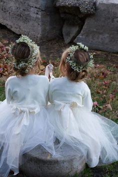 Rustic Style Flower Girls