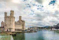Caernarfon Castle - with Snowdon in the background