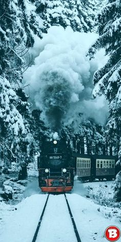 OMG Its the Polar Express . 'Try ur otherrrr pocket. - OMG Its the Polar Express . 'Try ur otherrrr pocket. Train Tracks, Train Rides, Old Steam Train, Scenery Pictures, Train Art, Old Trains, Winter Photos, Steam Locomotive, Winter Landscape