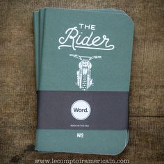 NOUVEAU carnet Word® The Rider Journal #Ironandresin #motorcycle #moto #Harley #HD #HarleyDavidson #chopper #bobber #caferacer #Norton #Triumph #BSA #Ducati #RoyalEnfield #Matchless #AJS #Velocette #madeinUSA #lecomptoiramericain