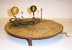W. & S. Jones Orrery, 1794,    showing movements of Mercury, Venus, and Earth around the Sun, and the Moon around the Earth