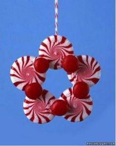 DIY Peppermint Candy Ornament - Kids Favorite