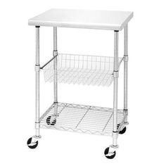 Rebrilliant Lille Kitchen Cart with Stainless Steel Top