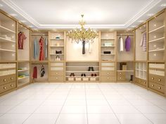 This is a beautiful interior designed closet. I love the color and how spacious this closet is. Someday, I would love to have something like this in my house. Garage Cabinets, Custom Cabinets, Comment Organiser Son Dressing, Build A Closet, Closet Lighting, Luxury Closet, Walk In Wardrobe, Custom Closets, Beautiful Interior Design