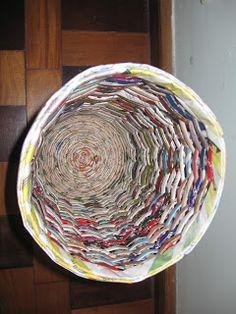 Arte em jornal: lixeira