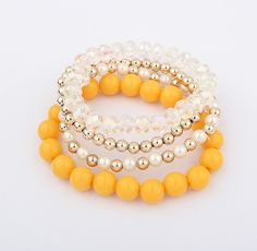 Characteristic Multi-Layered Women's Different Size Bead Bracelet