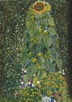 The Sunflower Cross Stitch Pattern by Avalon Cross Stitch on Etsy