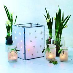 Des lanternes étoilées en papier cuisson / Baking paper lanterns