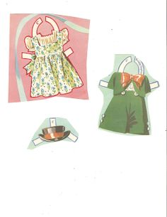 Dionne Quintuplets Paper Dolls (20 of 26): Cecile, #3488 Merrill 1940 | Miss Missy Paper Dolls