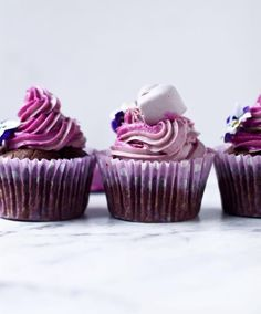 """Chocolate & Mesquite Cupcakes with Rose Icing   Because who needs a man when you've got A) chocolate AND B) roses (albeit they are being eaten not gifted!)  I'm not a HUGE fan of cooking with """"superfood"""" powders ... mainly because I don't see the benefit"""