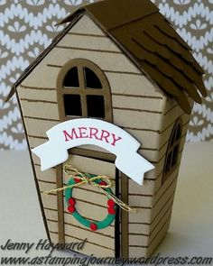 The 'Home Sweet Home' Thinlits make cute Christmas decorations. #homesweethome