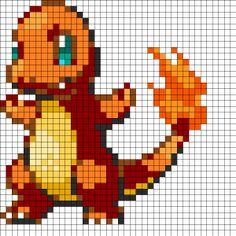 Pokemon Charmander Fuse Bead Perler Pattern Perler Bead Pattern | Bead Sprites | Characters Fuse Bead Patterns