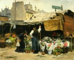 'At the Flower Market' - Victor-Gabriel Gilbert.