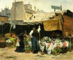 'At the Flower Market' - Victor-Gabriel Gilbert.