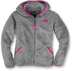 Gray and pink Northface. I need this in every color..in my closet
