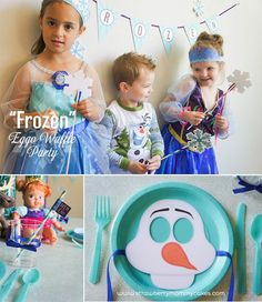 Frozen themed Waffle Party with FREE PRINTABLES via Kara's Party ...