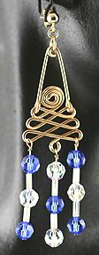 30 Degree Spiral Jewelry Wire & Beads Earrings
