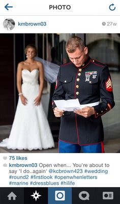 Love this! Such a special moment captured. Marine Corps wedding, military wedding, first look