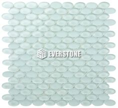 love these little ovals! Ovals Crystal Glass White Glossy mosaic   EVERSTONE International