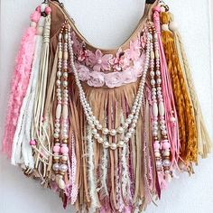 Hippie Purse, Fringe Bags, Boho Bags, Craft Bags, Outfit Maker, Confident Woman, Wearable Art, Fabric Crafts, Boho Fashion