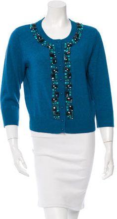 Kate Spade New York Embellished Wool-Blend Cardigan Wool Blend, Cardigans, Kate Spade, Sweaters For Women, York, Stylish, Fashion, Moda, Fashion Styles
