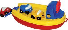 Loďka Kompa s 3 autami