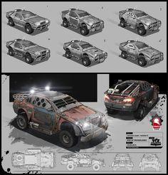 ArtStation - Rise of the Badlands Vehicles, Kris Thaler