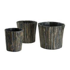 3 piece basket set made of bark...