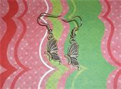 Silver butterflies and silver fish hook earrings. Price: $5.00