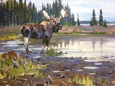 "Carl Rungius, ""Moose"""