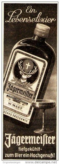 Jägermeister Anzeige 1958 - zum Bier??
