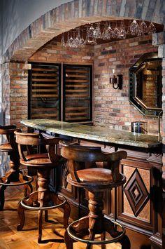 Trendy home bar designs basement wine cellar Basement Bar Designs, Home Bar Designs, Basement Bars, Wine Cellar Basement, Home Wine Cellars, Bourbon Bar, Pub Interior, Wine Cellar Design, Trendy Home