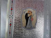 3D Glückwunschkarte / Karte zur silbernen Hochzeit