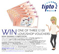 Win Love to Shop vouchers with TIPTO