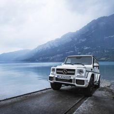 After dashing from Stuttgart to Zurich, light was fading when Nate and Sean arrived at Walensee, one of Switzerland's largest bodies of water.  #MBPhotocredit @nate047  #Mercedes #Benz #GClass #G63 #AMG #SUV #instacar #carsofinstagram #germancars #luxury