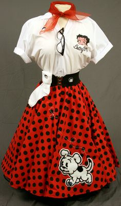 Betty Boop Poodle Skirt Outfit