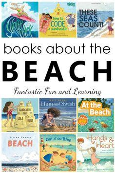 Best Beach Books for Kids - Fantastic Fun & Learning Preschool Books, Preschool Themes, Preschool Kindergarten, Beach Theme Preschool, Montessori Books, Reading Activities, Activities For Kids, Reading Games, Literacy Activities