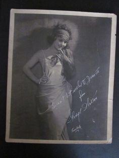 Vintage Silent Film Star Gladys Walton Signed Freulich Photo Al Capones Lover