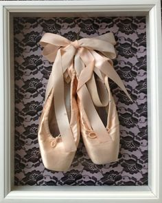 Classic Black Lace Box. I want to do something like this with my first (dead) pair of pointe shoes.