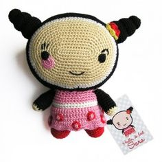 Aaah wat is ze lief, de gehaakte Ollipop Sara van de Ollipoppies! Hello Kitty, Weaving, Pop, Knitting, Crochet, Kids, Fictional Characters, Young Children, Popular